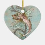Fantasy Fish Art Nouveau Christmas Ornament