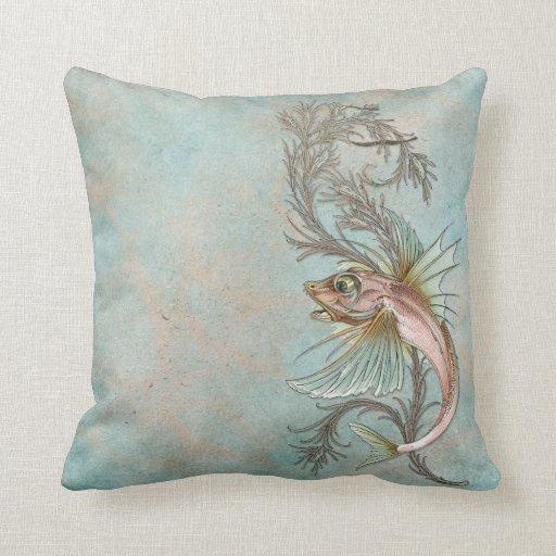 Fantasy Fish Art Nouveau Pillow