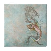 Fantasy Fish Art Nouveau Tile