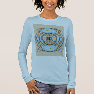 Fantasy Fish Bowl with Mystical Goldfish in Water Long Sleeve T-Shirt
