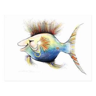 Fantasy Fish: Cod Stewart Postcard