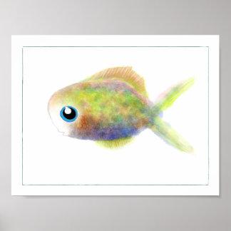 Fantasy Fish Poster: Blue-Eyed Boy Poster