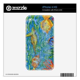 Fantasy Fish Tank Art Skin For iPhone 4