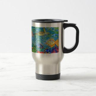 Fantasy Fish Tank Art Travel Mug