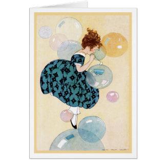 """FANTASY FLOATING """"DOUBLY BUBBLY BIRTHDAY"""" GREETING CARD"""