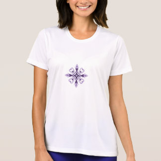 Fantasy Floral Hearts Purple Fractal Design T-Shirt