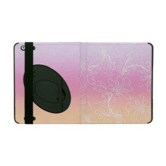 Fantasy Floral on Rainbow Sherbet Background iPad Folio Cases