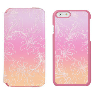Fantasy Floral on Rainbow Sherbet Background iPhone 6/6s Wallet Case