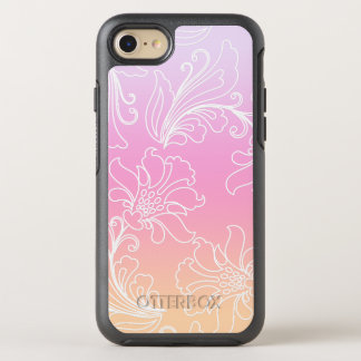 Fantasy Floral on Rainbow Sherbet Background OtterBox Symmetry iPhone 7 Case