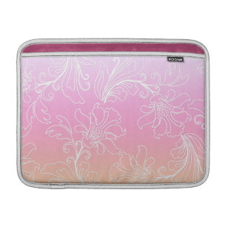 Fantasy Floral on Rainbow Sherbet Background Sleeves For MacBook Air