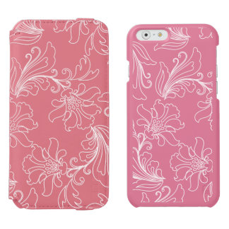 Fantasy Floral on Transparent Background iPhone 6/6s Wallet Case