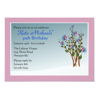 Fantasy Florets Birthday Party Invitation