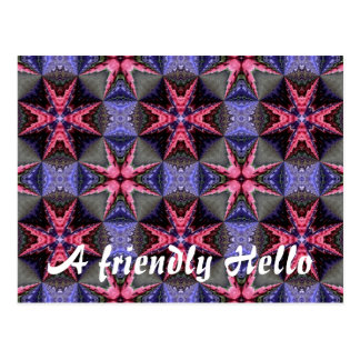 Fantasy flower garden, A friendly Hello Postcard