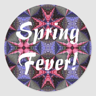 Fantasy flower garden, Spring Fever! Round Sticker