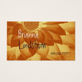FANTASY FLOWER Gold Metallic Business Card