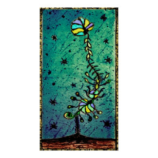 Fantasy Flower Hand Draw Illustration Poster