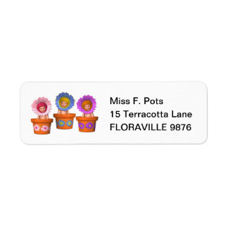 Fantasy Flower Pot Babies Label