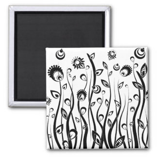 fantasy flowers 2 inch square magnet