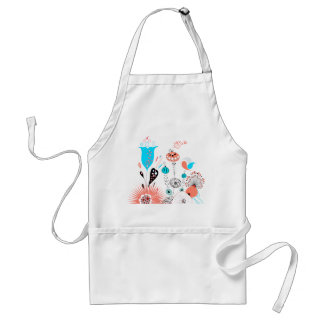 Fantasy Flowers and Birdie Adult Apron