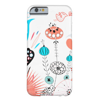 Fantasy Flowers and Birdie Barely There iPhone 6 Case