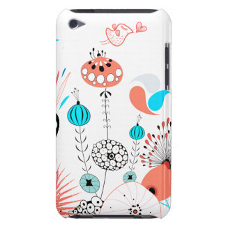 Fantasy Flowers and Birdie iPod Case-Mate Cases