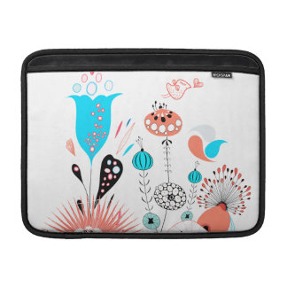 Fantasy Flowers and Birdie MacBook Sleeves