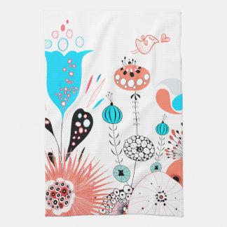 Fantasy Flowers and Birdie Towel