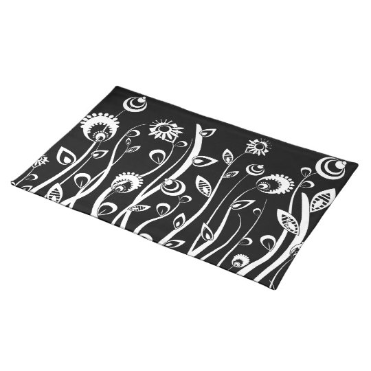 fantasy flowers cloth placemat