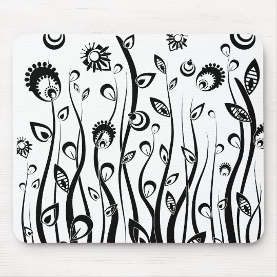 fantasy flowers mouse pad