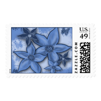 Fantasy Flowers Postage Stamps
