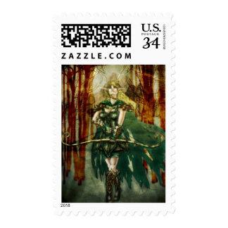 Fantasy Folk Elk Archer Stamps