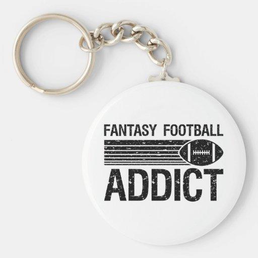 Fantasy Football Addict 1 Basic Round Button Keychain