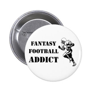 Fantasy Football Addict 2 2 Inch Round Button