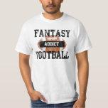 Fantasy Football Addict, Grunge Varsity Style Tee Shirt