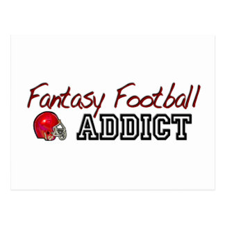 Fantasy Football Addict Postcard