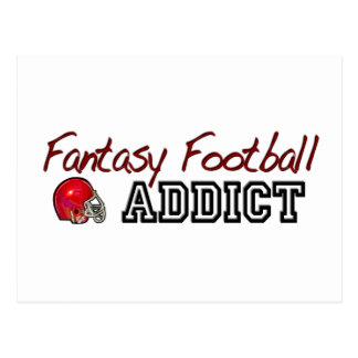 Fantasy Football Addict Postcard