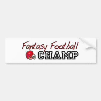 Fantasy Football Champ Bumper Sticker
