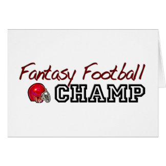 Fantasy Football Champ Card