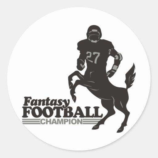 Fantasy Football Champ Classic Round Sticker