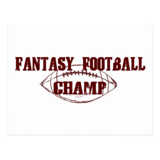 Fantasy Football Champ Postcard