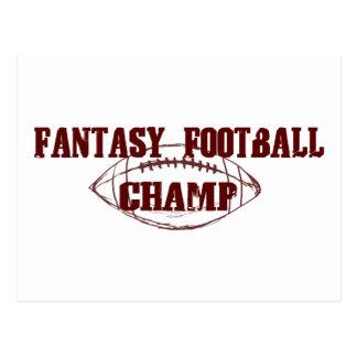 Fantasy Football Champ Postcard