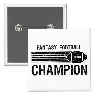 Fantasy Football Champion 1 2 Inch Square Button