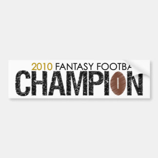 fantasy football champion 2010 bumper sticker