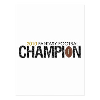 fantasy football champion 2010 postcard