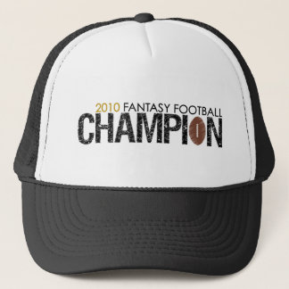 fantasy football champion 2010 trucker hat