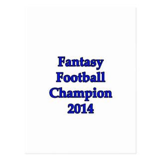 Fantasy Football Champion 2014 Postcard