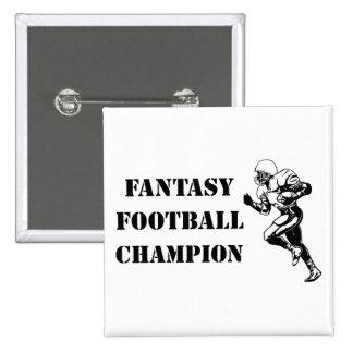 Fantasy Football Champion 2 2 Inch Square Button