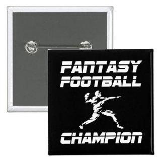 Fantasy Football Champion 2 Inch Square Button