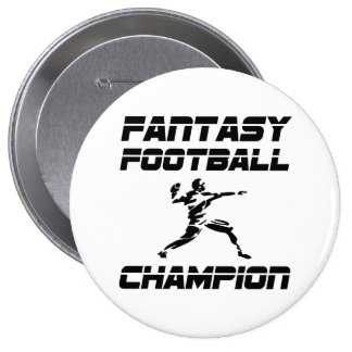 Fantasy Football Champion 4 Inch Round Button