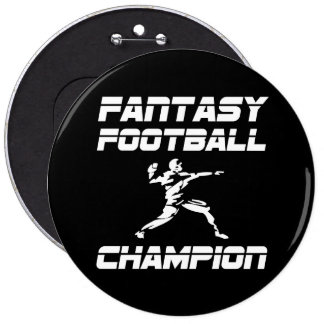 Fantasy Football Champion 6 Inch Round Button
